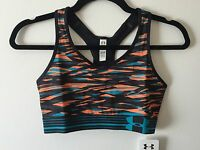 UNDER ARMOUR WOMEN'S MID-IMPACT ALPHA PRINTED SPORTS BRA: STYLE #1246962-832
