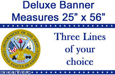 US ARMY CLASSIC CUSTOM DELUXE BANNER Party Supplies FREE SHIPPING