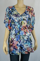 Crossroads Ladies Kaftan ES Mesh Top size 8 10 16 18 20 22 Colour Tropical Print