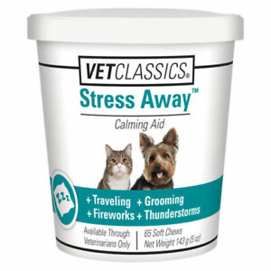 VetClassics Stress Away Soft Chews For Dogs and Cats, 65 Chews