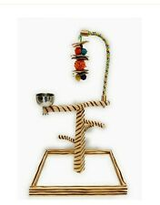 Birds Love TigerTail Tabletop Gym. Cup, Toy Hanger, Bell & Toy Included Size L