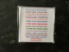 Personalised fridge magnet  Teacher gift with poem. Teacher. TA. Dinner lady
