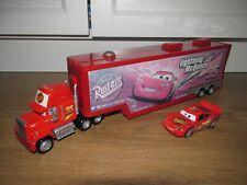 Disney Cars Mack Lorry / Truck Transporter / Bachelor Pad Play Set & Mcqueen Car