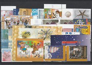 Slowenien Slovenia Slovenie 2001 year set + charity, all stamps, postfrisch MNH