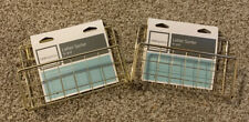 2 Realspace Letter Sorter Holders Gold Organizer New