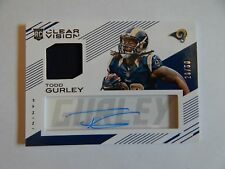 Todd Gurley St Louis Rams Clear Vision 2015 Rookie/Patch/Auto 20/50