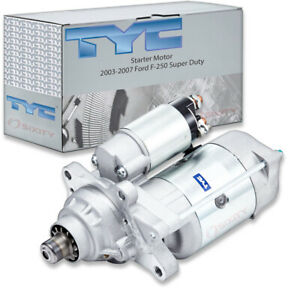 TYC Starter Motor for 2003-2007 Ford F-250 Super Duty 6.0L V8 Electrical ty