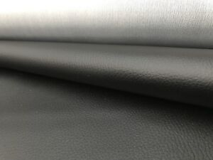 Black fabric Faux Leather textured for reupholstery caravan sofa etc