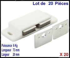 PROFITEZ,ON DESTOCK,Lot de 20 Loqueteaux Double Magnétique Aimant,,Meubles,Porte