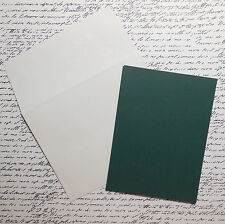 Blank Cards and Envelopes Pack of 8 Hunter Green A2 Size Paper Reflections/DMD