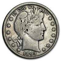 1893 Barber Half Dollar VF (Details) - SKU#182654