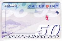 FRANCE  TELECARTE / PHONECARD  PREPAYEE .. 50F CALLPOINT SKI SAISON 98-99 +N°