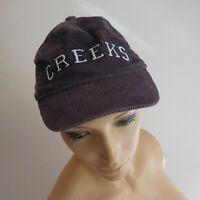 Casquette CREEKS violet indigo coton taille unique unisexe femme homme N5999