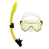 Comfortable Silicone Free Diving Scuba Dive Mask Snorkel Set for Kids Junior