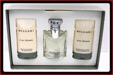 Bvlgari Pour Homme 3pc Set 1.7oz Eau de Toilette 2.5oz Shave Emulsion+Shower gel