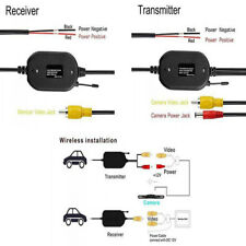 2.4G RCA Transmitter Receiver for Car DVD Monitor WIFI Rear View Camera Reverse