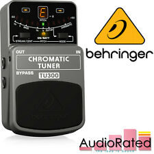 More details for behringer tu300 tuner pedal chromatic for electric lead guitar bass stage board