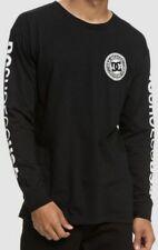 $135 DC Shoe Longsleeve Graphic Logo Cotton Men T-Shirt Crew-Neck T-Shirt Size M