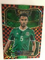 DIEGO REYES 2017 18 PANINI SELECT PRIZM REFRACTOR TERRACE RED CHECKERBOARD
