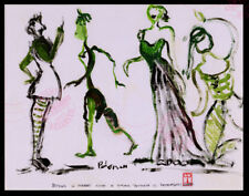 #12 Modern Art Figure Series ORIGINAL OIL PAINTING Goth Whimsical Dance SIGNED