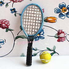 Dollhouse Miniature 1:12 Toy Sport Tennis Racket And Ball BM59