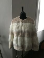 BNWT Zara Two Tone Pink and Whte Jacket Coat - Size L