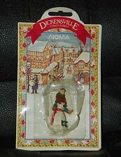 DICKENSVILLE Collectables Miniature POLAR BEAR & CHILD Christmas Town DECORATION