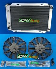 Aluminum Radiator & 2*Fans For 79-93 FORD MUSTANG 80 81 82 83 84 85 86 87 88 89