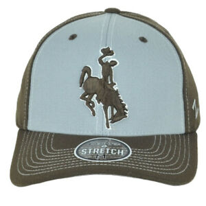 NCAA Zephyr Wyoming Cowboys Two Tone Fitted Stretch Medium Adults Men Hat Cap