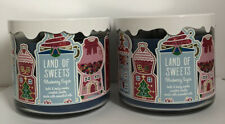 2x BATH & BODY WORKS LAND OF SWEETS (BLUEBERRY SUGAR) 3 WICK 14.5 oz CANDLE NEW