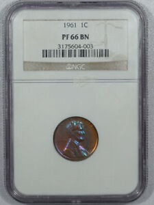 1961 PROOF LINCOLN CENT - NGC PF-66 BN PRETTY!