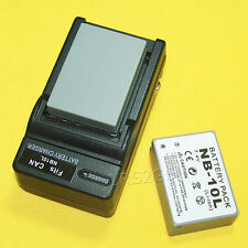 Brand NEW 2x 1360mAh NB-10L Battery Charger For Canon PowerShot G1 X 14.3 MP USA
