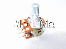 New 5PCS B10K Dual Stereo Potentiometer Pots Shaft S 15mm 6Pin MO
