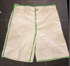 IZOD GOLF SHORTS Size 32 Beige Flat Front Classic Fit NWT MSRP$ 50