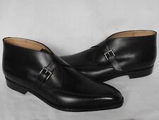 NEW  Mens John Lobb SCOTNEY Black Calf Leather Buckle Boots UK 11.5 D RRP £880