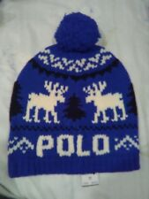 Polo Ralph Lauren Men's Reindeer Wool Cap Blue