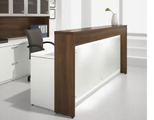 "Morpheo 97"" Modern Reception/Receptionist Office Desk Shell with Countertop"