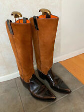 FRYE Brown Suede and Leather Western Boots Size Women's 9.5 M