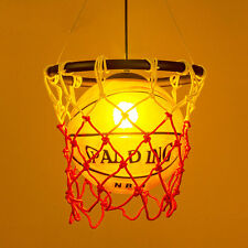 Vintage Basketball Pendant Light Retro Ceiling Lamp Chandelier Acrylic Cage