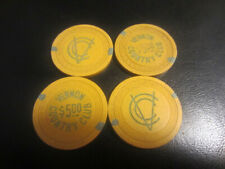 $5 VERNON COUNTRY CLUB DEERFIELD,IL ILLEGAL GAMBLING CHIP CHICAGO SYNDICATE