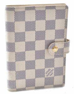 Authentic Louis Vuitton Damier Azur Agenda PM Day Planner Cover R20706 LV C3320