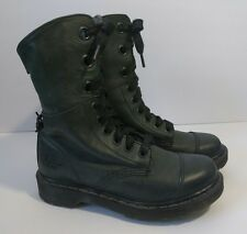 Dr Martens Air Wair Original Boots Dark Grey Leopard Lining Womens 7-8 Fit Large
