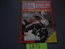 SEPTEMBER 1983 CYCLE GUIDE MAGAZINE,HONDA V-4 400,YAMAHA XJ900 SECA,WHITE BROS.