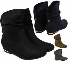 Women's Cuban Mid Heel (1.5-3 in.) Ankle Boots Casual Shoes