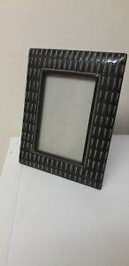 LOVELY ITEM..POTTERY. .PHOTO FRAME...FREE STANDING...BLACK...BROWN...POTTERY