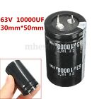 1/2/4Pcs 63V 10000UF High-frequency Temp Electrolytic Capacitor 30mm*50mm New