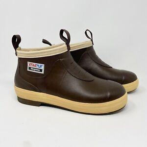 Xtratuf Elite Insulated Ankle Deck Boots Neoprene Waterproof Brown Tan M 10 W 11