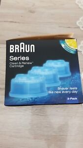 3 Katuschen  Braun series Reinigungskartuschen neu orginal verpackt ccr3