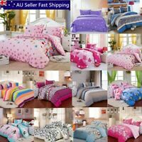 All Size Duvet Cover with Pillow Case Quilt Cover Bedding Set Single King Double