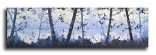 MISTY LARGE BLUE LAKE PAINTING IMPRESSIONIST TREES LANDSCAPE WALL ART